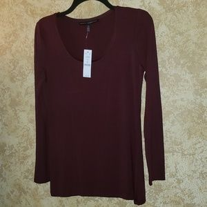 NWTS Burgundy Long Sleeve Tee Shirt
